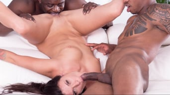 Verona Sky in 'Verona Sky, Double Vaginal in her First Interracial Threesome'