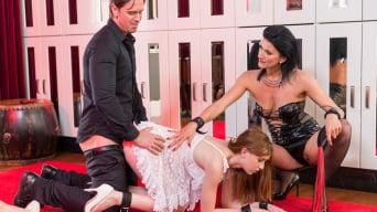 Ana Rose in 'Cougar Celine makes her sex slave Linda take an anal gaping pounding'