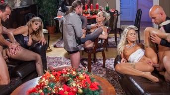 Barra Brass in 'Sexy Trio of Pornstars Enjoy a Holiday Dinner and Then Sex'