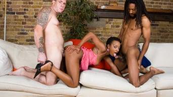 Lala in 'Amateur Ebony Babe Lala has an Interracial Threeway'